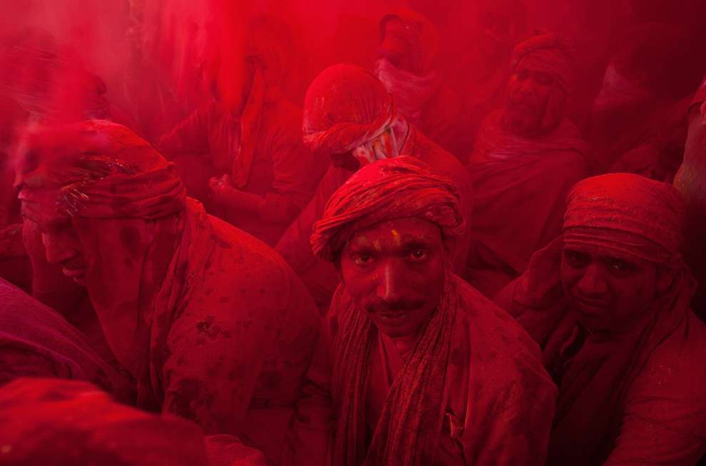Holi Celebrations in India - Photographs of Lathmar Holi12