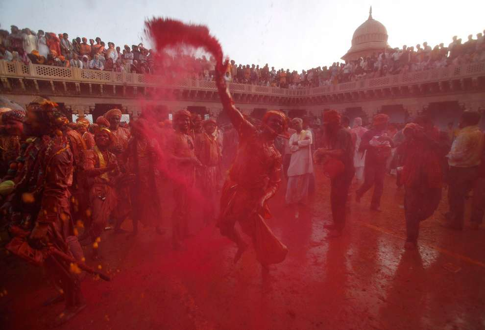 Holi Celebrations in India - Photographs of Lathmar Holi19