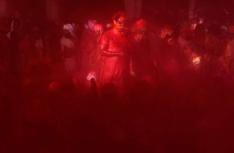 Holi Celebrations in India - Photographs of Lathmar Holi4