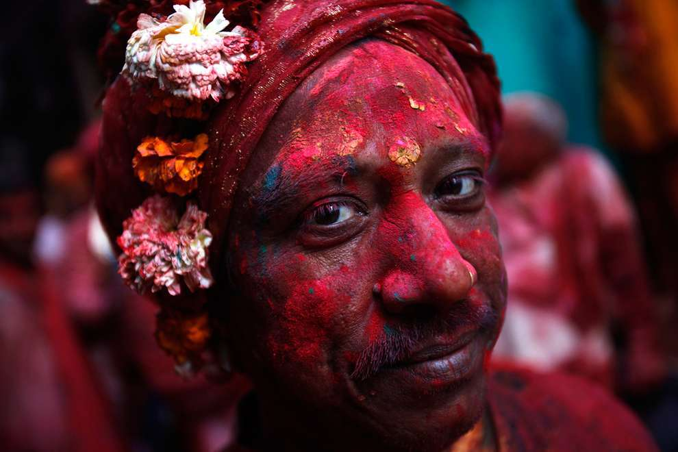 Holi Celebrations in India - Photographs of Lathmar Holi7