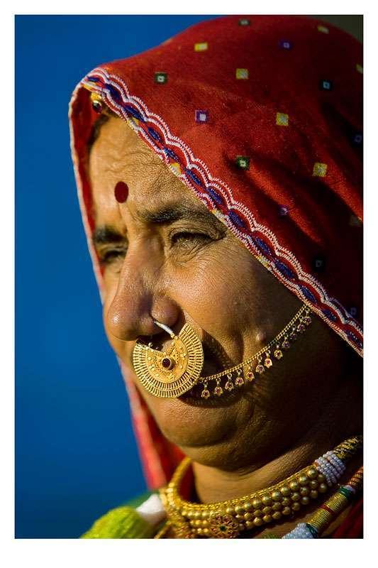 Indian Nose Rings - Adorning Nose with beautiful Jewels and Rings7