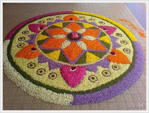 Rangoli Flower Designs and Patterns6