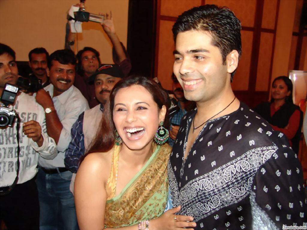 Rani Mukherjee and Karan Johar