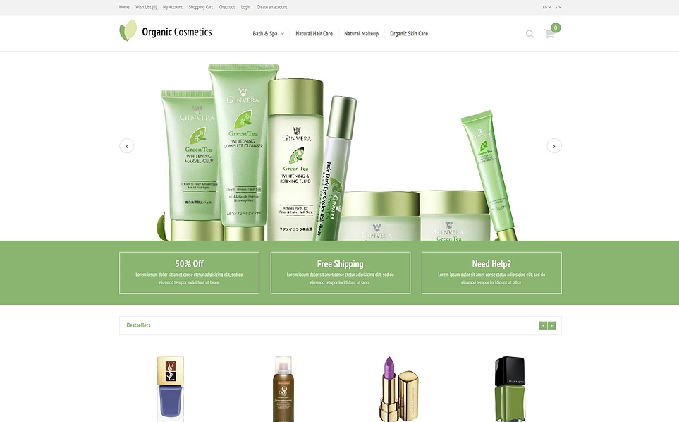 Hair & Beauty Store OpenCart Template