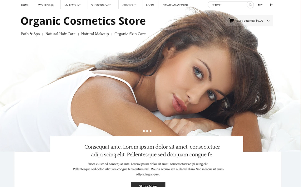 Opencart Theme for Beauty Store