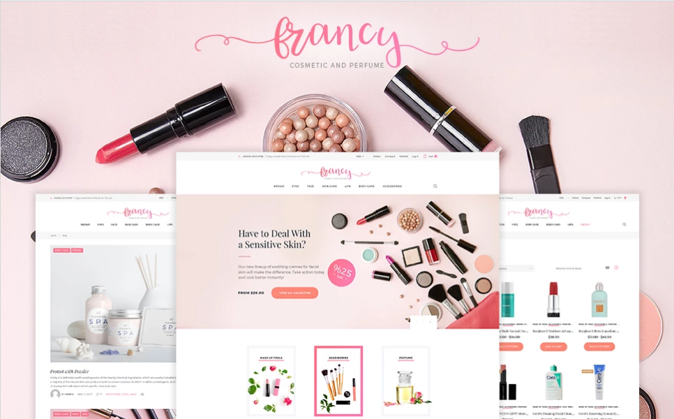 WordPress Beauty Theme for eCommerce
